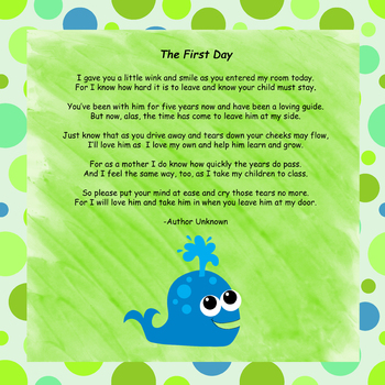 Free Poetry For Parents | Teachers Pay Teachers