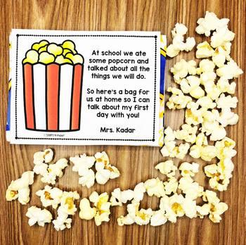 First Day Popcorn Poem