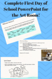 First Day PowerPoint for the Art Room