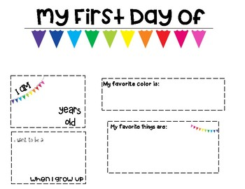 First Day Printable