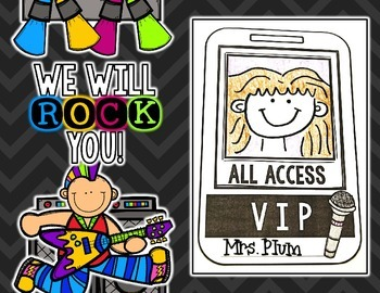 First Day Printable FREEBIE {We Will ROCK You! VIP Pass}
