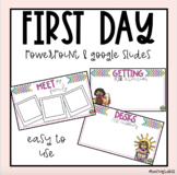 First Day Procedures Powerpoint & Google Slide Pictures