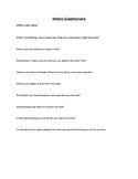 First Day Questionnaire History