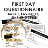 First Day Questionnaire and Minilesson