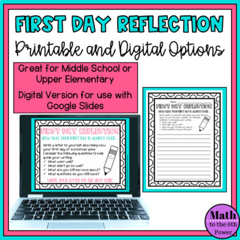 First Day Reflection