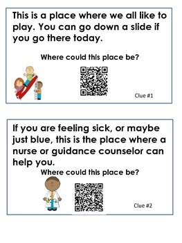 Editable First Day Scavenger Hunt with QR codes