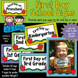 First Day School Signs Printable Download