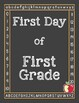 First Day Sign and Writing Pages K-2