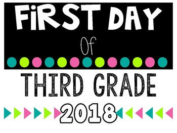 First Day Signs