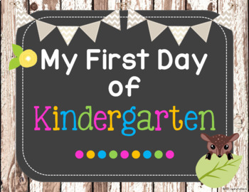 First Day Signs (Rustic Woodland Theme)
