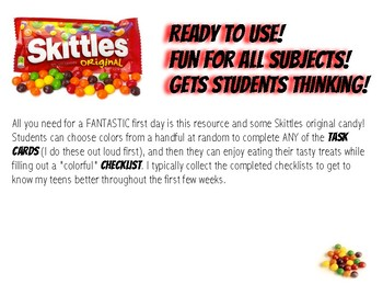 """First Day Skittles """"Getting to Know You"""" Activities"""