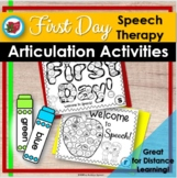 First Day Speech Therapy| Back to School | Distance Learning