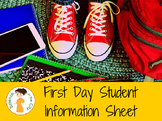 First Day Student Info Sheet