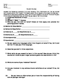 First Day Student Information Survey
