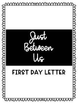 First Day Student Letter