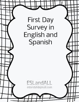 First Day Survey English/Spanish