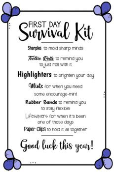 First Day Survival Kit #2