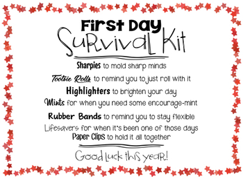 First Day Survival Kit