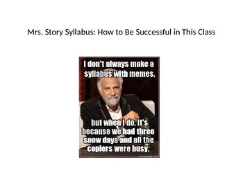 First Day Syllabus with Memes