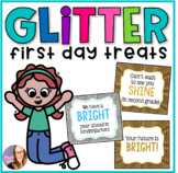 First Day Treat Labels- Glitter Tags
