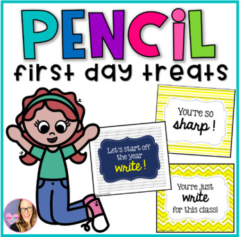 First Day Treat Labels- Pencil Tags