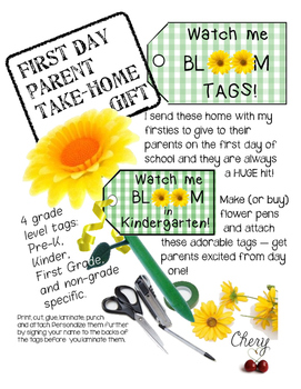 First Day WATCH ME BLOOM tags