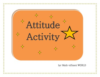 First Day/ Week of School Activity - Attitude Activity
