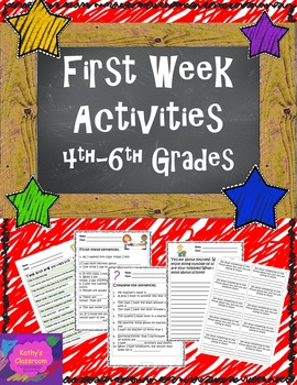 Back To School Activities. No Prep First Day / Week Fun!