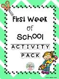 First Week of School Activity Pack (K-3)