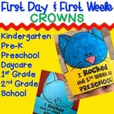 First Day  Week of School Crown Hat