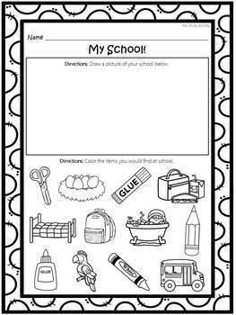 First Day / Week of School (Kindergarten Back to School)