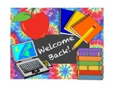 First Day-Welcome Back Activity