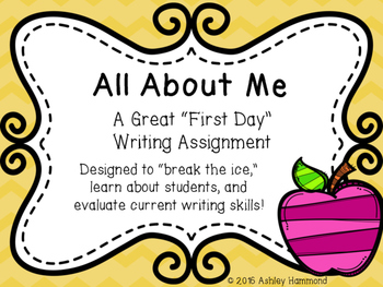 First Day Writing: All About Me Essay
