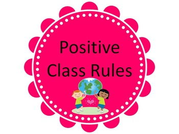 First Day and EVERYDAY Class Rules