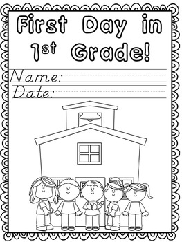 First Day in First Grade Activity Packet