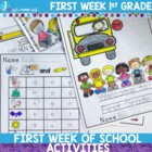 First Day of First Grade Activity and Assessment Pack