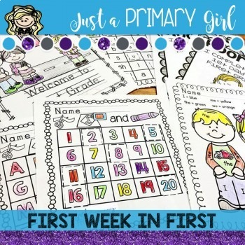 First Days of First Grade Activity and Assessment Pack