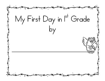 First Day of 1st Grade Booklet