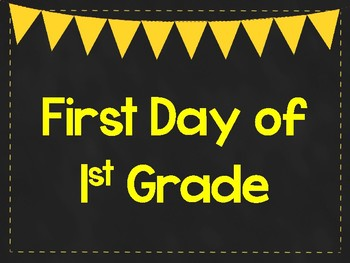 photograph relating to First Day of 1st Grade Printable Sign known as To start with Working day of 1st Quality Printable Posters. 1st Working day of College Indicators. 6 Shades.