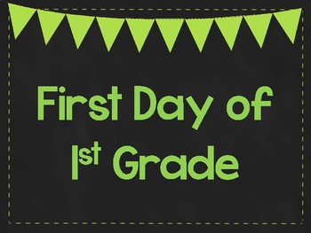 graphic relating to First Day of 1st Grade Printable known as Very first Working day of 1st Quality Printable Posters. Initial Working day of College or university Indicators. 6 Hues.