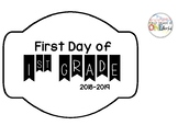 First Day of 1st Grade Sign 2018-2019