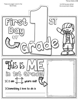 First Day of 1st Grade Tab-Its®