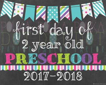 First Day of 2 Year Old Preschool - 2016-2017 School Year
