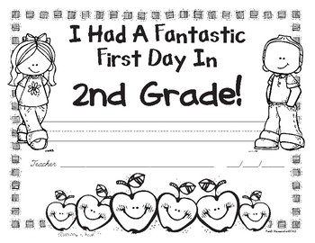 First Day of 2nd Grade Awards - Free