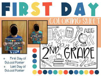 First Day of School Sign Coloring Page | crayola.com | 263x350