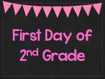 graphic about First Day of Second Grade Printable Sign referred to as Very first Working day of 2nd Quality Printable Posters. Initial Working day of Higher education Indicators. 6 Colours.