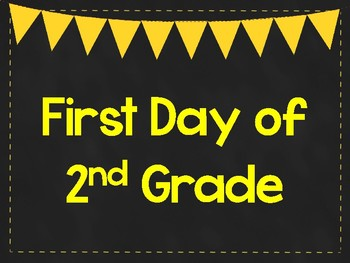First Day of 2nd Grade Printable Posters. First Day of School Signs. 6 Colors.