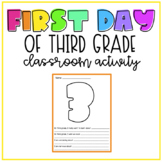 First Day of 3rd Grade | Print & Digital Versions Included!