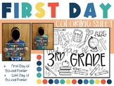 First Day of 3rd Grade Coloring Page