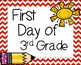 First Day of 3rd Grade Signs